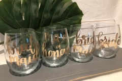 Custom Glass Set for Bridal Party