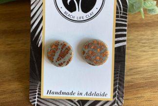 clay stud earrings handmade in adelaide