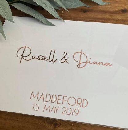 acrylic wedding guest book adelaide