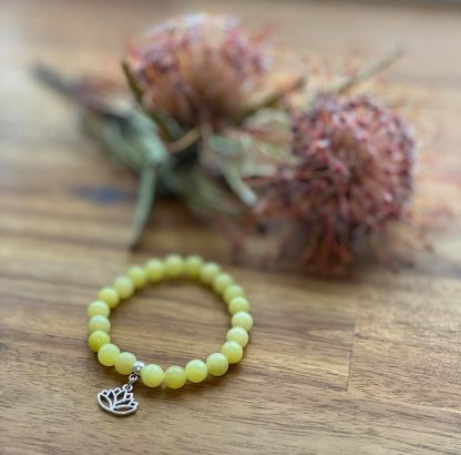 lemon jade gemstone bracelet