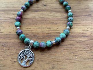 ruby in zoisite crystal bracelet adelaide