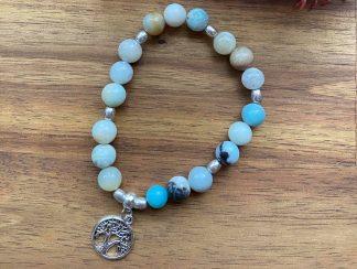 aventurine gemstone bracelet - tree of life