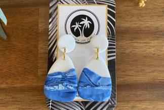 ocean clay earrings - ocean lover beach bum