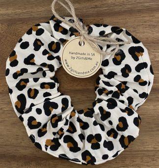 leopard print scrunchie handmade